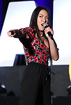 "Kay Trinadad from ""Hadestown"" during the BroadwayCON 2020 First Look at the New York Hilton Midtown Hotel on January 24, 2020 in New York City."