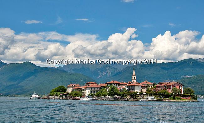 Isola dei Pescatori, also known as Fishermen's Island or Isola Superiore, a small island in Lake Maggiore, Italy across from the town of Stresa