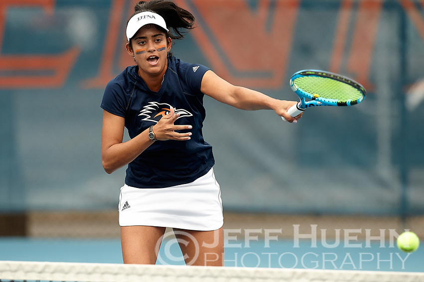 SAN ANTONIO, TX - FEBRUARY 3, 2019: The University of Texas at San Antonio Roadrunners defeat the University of the Incarnate Word Cardinals 4-0 at the UTSA Tennis Center. (Photo by Jeff Huehn)