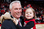 Wisconsin Badgers Bo Ryan with his granddaughter after a Big Ten Conference NCAA college basketball game against the Illinois Fighting Illini on Sunday, March 4, 2012 in Madison, Wisconsin. The Badgers won 70-56. (Photo by David Stluka)