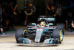 Lewis Hamilton (GBR) Mercedes-Benz F1 W08 Hybrid at Formula One Testing, Day 2, Circuit Barcelona Catalunya