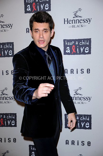 WWW.ACEPIXS.COM . . . . . ....October 15 2009, New York City....John Mayer arriving at th  'Keep A Child Alive's 6th Annual Black Ball'  hosted by Alicia Keys and Padma Lakshmi at Hammerstein Ballroom on October 15, 2009 in New York City.....Please byline: KRISTIN CALLAHAN - ACEPIXS.COM.. . . . . . ..Ace Pictures, Inc:  ..tel: (212) 243 8787 or (646) 769 0430..e-mail: info@acepixs.com..web: http://www.acepixs.com