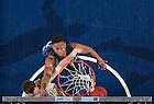 Jan. 4, 2014; Pat Connaughton dunks as Duke Blue Devils forward Jabari Parker (1) defends in the first ACC game for the Notre Dame Men's Basketball team. Notre Dame defeated Duke 79-77. <br /> <br /> Photo by Matt Cashore