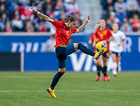 HARRISON, NJ - MARCH 08: Ona Batlle #2 of Spain controls the ball during a game between Spain and USWNT at Red Bull Arena on March 08, 2020 in Harrison, New Jersey.