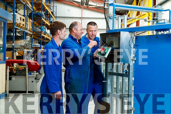 James Quirke (Assembly), Liam Brennan (Assembly Manager) and Brendan Carmody (Assembly), at Dairymaster, Causeway.