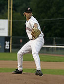 July 3, 2004:  Pitcher Chris Mobley of the Jamestown Jammers, Single-A NY-Penn League affiliate of the Florida Marlins, during a game at Russell Diethrick Park in Jamestown, NY.  Photo by:  Mike Janes/Four Seam Images