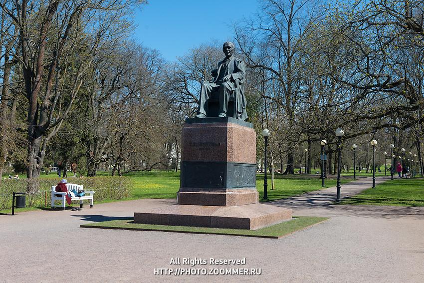 Lauluisa Friedrich Reinhold Kreutzwaldi Monument in Kadriorg park, Tallin, Estonia
