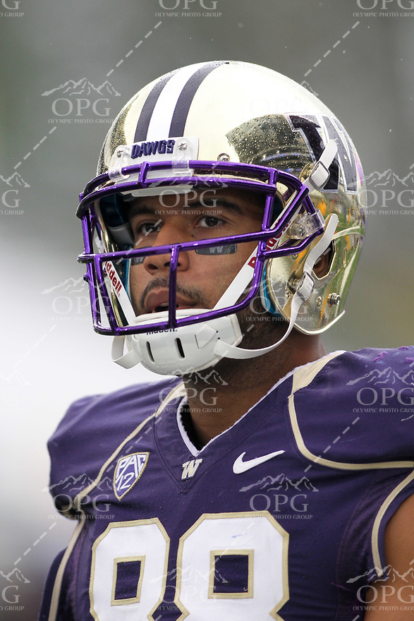 2013-09-28: Washington's Austin Seferian-Jenkins against Arizona.  Washington won 31-13 over Arizona in Seattle, WA.