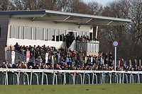 A large crowd looks on during the Connolly's Red Mills Horsefeed National Hunt Novices' Handicap Hurdle