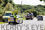 A motorcyclist received some injuries in a crash on the Listowel to Tralee Road on Friday afternoon at approximately 3.30pm.