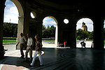Tourist walk inside the Dianatempel or the temple of Diana in hofgarten with the theatinerkirche or saint Kajetan church in background in Munich, Germany, July 31, 2008. (ALTERPHOTOS/Alvaro Hernandez)