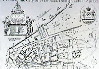 Utopia:  Plan of New York City from an actual survey, 1731.  James Lyne.