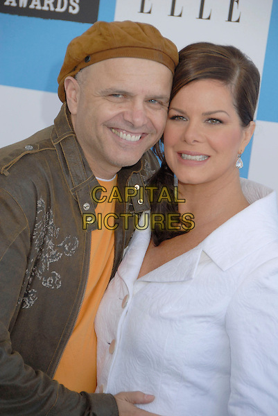 JOE PANTOLIANO & MARCIA GAY HARDEN.The 2007 Independent Spirit Awards held at the Santa Monica Pier, Santa Monica, California, USA..February 24th, 2007.half length brown hat top jacket white .CAP/ADM/GB.©Gary Boas/AdMedia/Capital Pictures