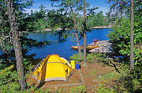 Canoe campsite on Sandburner Island, Sand Point Lake, Voyageurs National Park, Minnesota, AGPix_0535..