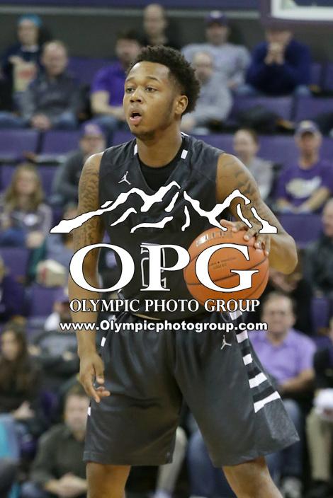 Dec 19, 2015:  Oakland's Nick Daniels against Washington.  Oakland defeated Washington 97-83 at Alaska Airlines Arena in Seattle, WA.