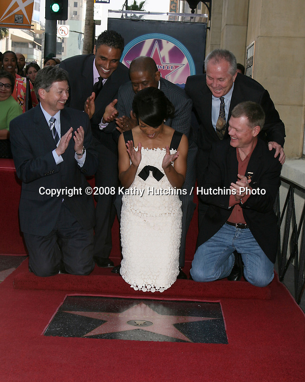 Rick Fox, Angela Bassett, and  Forest Whitaker, and chamber officials.Angela Bassett Receives a Star on the Hollywood Walk of Fame.Hollywood Boulevard.Los Angeles, CA.March 20, 2008.©2008 Kathy Hutchins / Hutchins Photo