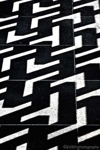 Black and white geometric line abstract
