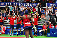 Washington, DC - July 25, 2018:  Venus Williams of the Washington Kastles celebrates her defeat of Naomi Broady of the San Diego Aviators during the  Women's Singles match July 25, 2018.  (Photo by Don Baxter/Media Images International)