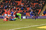 Forest's Gary Gardener scores his sides equalising goal - Blackpool vs. Nottingham Forest - Skybet Championship - Bloomfield Road - Blackpool - 14/02/2015 Pic Philip Oldham/Sportimage