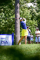 Kim Kaufman (USA) watches her tee shot on 16 during Saturday's round 3 of the 2017 KPMG Women's PGA Championship, at Olympia Fields Country Club, Olympia Fields, Illinois. 7/1/2017.<br /> Picture: Golffile | Ken Murray<br /> <br /> <br /> All photo usage must carry mandatory copyright credit (&copy; Golffile | Ken Murray)