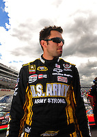 Sept 19, 2008; Dover, DE, USA; NASCAR Camping World Series East driver Aric Almirola during qualifying prior to the Sunoco 150 at Dover International Speedway. Mandatory Credit: Mark J. Rebilas-