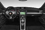 Stock photo of straight dashboard view of a 2015 Porsche 911 Targa 4S 2 Door Coupe Dashboard