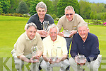 Receiving prizes at the Killarney Trophy Centre four ball better ball golf classic in aid of the National Council of the Blind in Castlerosse Golf Course on Sunday was l-r: Dan Lynch, John Lowery, Mick Clifford, Charles Scanlon and Keith Johnson all Killarney   Copyright Kerry's Eye 2008