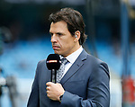 Wales manager Chris Coleman takes the roll of a pundit for Sky Sports during the English Premier League match at the Etihad Stadium, Manchester. Picture date: May 6th 2017. Pic credit should read: Simon Bellis/Sportimage