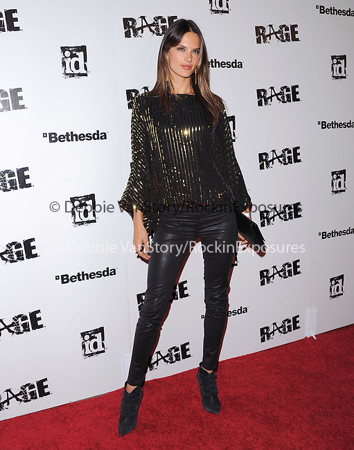 Alessandra Ambrosio  attends the official launch party for the most anticipated video game of the year RAGE in ChinaTown in Los Angeles, California on September 30,2011                                                                               © 2011 Hollywood Press Agency