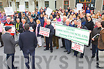 Protesters at the South Kerry Development Partnership held a Alignment Protest Meeting outside of the Kerry County Council Monthly Meeting on Monday