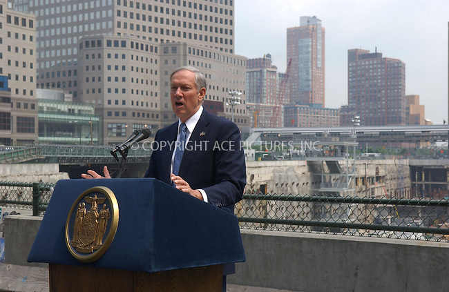 WWW.ACEPIXS.COM . . . . . ....June 29, 2006, New York City. ....Governor George Pataki tours the World Trade Center site with the private developer Larry Silverstein of the 533-meter Freedom Tower to rise. ......Please byline: KRISTIN CALLAHAN - ACEPIXS.COM.. . . . . . ..Ace Pictures, Inc:  ..(212) 243-8787 or (646) 769 0430..e-mail: info@acepixs.com..web: http://www.acepixs.com