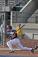 University of Virginia Cavaliers catcher Nate Irving #18 at bat during a game against the University of Kentucky Wildcats at Brooks Field on the campus of the University of North Carolina at Wilmington on February 14, 2014 in Wilmington, North Carolina. Kentucky defeated Virginia by the score of 8-3. (Robert Gurganus/Four Seam Images)