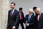 "Antonio Fraguas de Pablo ""Forjes"" , Spanish king, Felipe VI, spanish external subjects minister, José Manuel García-Margallo after the Quevedos iberoamerican award of grafic humor 2014. May 26,2016. (ALTERPHOTOS/Rodrigo Jimenez)"