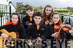 Glenflesk musicians at the Scor na bPaisti kerry South finals in Killarney on Sunday  l-r: Eilish Mullane, Jack Rudd, Ben Switzer, Eabha Redden and Muireann Darcy