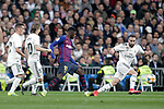 (L_) Real Madrid CF's Lucas Vazquez, Luka Modric, Daniel Carvajal and FC Barcelona's Ousmane Dembele during the King's Cup semifinals match. February 27,2019. (ALTERPHOTOS/Alconada)