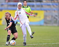 Monfalcone, Italy, April 26, 2016.<br /> USA's #9 Vatne scores the first goal during USA v Iran football match at Gradisca Tournament of Nations (women's tournament). Monfalcone's stadium.<br /> &copy; ph Simone Ferraro / Isiphotos
