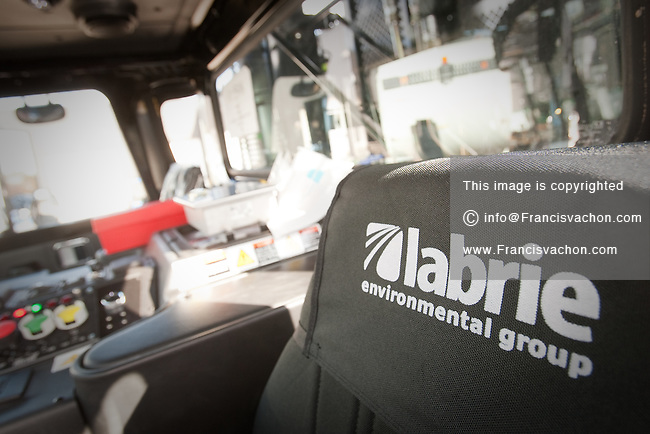The Interior of a Wittke Starlight garbage truck is pictured October 15, 2009 in St-Nicolas. The Wittke Starlight is one of the model constructed by Labrie Environmental Group, Canada's largest Waste collection vehicle Manufacturer.
