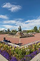 Golden Heart Plaza in the the downtown of Interior Alaska's golden heart city of Fairbanks, Alaska