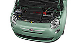 Car Stock 2017 Fiat 500 Pop 3 Door Hatchback Engine  high angle detail view