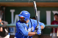Justin Chigbogu (56) of the Ogden Raptors at bat against the Idaho Falls Chukars in Pioneer League action at Lindquist Field on July 27, 2014 in Ogden, Utah.  (Stephen Smith/Four Seam Images)