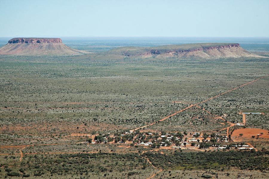 Aerial view of remote Aboriginal community  Nyrripi. lies 250km West of Alice Springs.