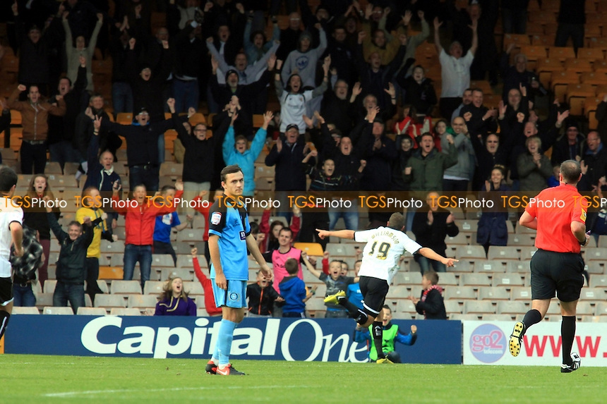 Ben Williamson of Port Vale celebrates his equalising goal - Port Vale vs Wycombe Wanderers - NPower League Two Football at Vale Park - 20/10/12 - MANDATORY CREDIT: Paul Dennis/TGSPHOTO - Self billing applies where appropriate - 0845 094 6026 - contact@tgsphoto.co.uk - NO UNPAID USE.