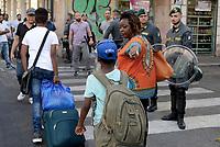 Roma, 19 Agosto 2017<br /> Piazza indipendenza<br /> Polizia sgombera palazzo occupato da 4 anni da circa 500 rifugiati somali ed eritrei