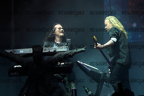 NIGHTWISH - keyboards Tuomas Holopainen and guitarist Emppu Vuorinen - performing live on Day Three on the Lemmy Stage at the Download Festival at Donington Park UK - 12 Jun 2016.  Photo credit: ZAine Lews/IconicPIxi