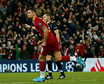 Dejan Lovren of Liverpool celebrates scoring the equaliser  during the UEFA Champions League match at Anfield, Liverpool. Picture date: 27th November 2019. Picture credit should read: Andrew Yates/Sportimage