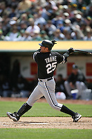 OAKLAND, CA - APRIL 11:  Jim Thome of the Chicago White Sox in action during the game against the Oakland Athletics at the McAfee Coliseum in Oakland, California on April 11, 2007. (Photo by Brad Mangin)