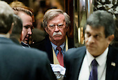 Former United States Ambassador to the United Nations John Bolton arrives for a meeting with President-elect Donald Trump at Trump Tower in New York, New York, USA, 02 December 2016.<br /> Credit: Justin Lane / Pool via CNP
