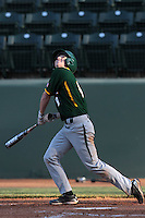 Lawton Langford #8 of the Baylor Bears bats against the UCLA Bruins at Jackie Robinson Stadium on February 25, 2012 in Los Angeles,California. UCLA defeated Baylor 9-3.(Larry Goren/Four Seam Images)