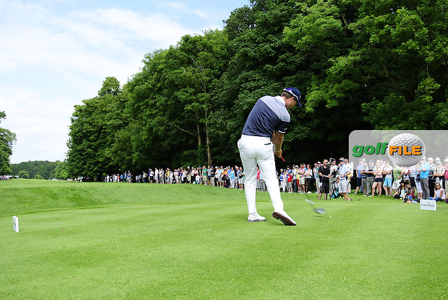 Danny Willett (ENG) tees off the 18th tee during Sunday's Final Round of the 2014 Irish Open held at Fota Island Resort, Cork, Ireland. 22nd June 2014.<br /> Picture: Eoin Clarke www.golffile.ie