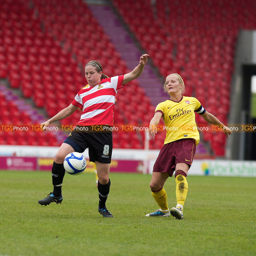 Vicki Exley (Doncaster) and Katie Chapman (Arsenal)..Doncaster Belles v Arsenal Ladies at Keepmoat Stadium, Doncaster. - Action fromFA Women's Super League 2011 - 07/05/11 - MANDATORY CREDIT: Mark Hodsman/TGSPHOTO - Self billing applies where appropriate - 0845 094 6026 - contact@tgsphoto.co.uk - NO UNPAID USE.